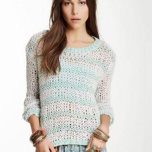 Free People cloud combo striped sweater